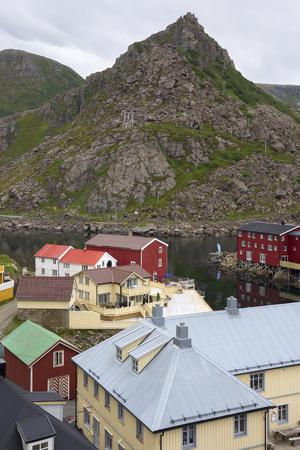 Nyksund village to the Lofoten islands in Norway Editorial