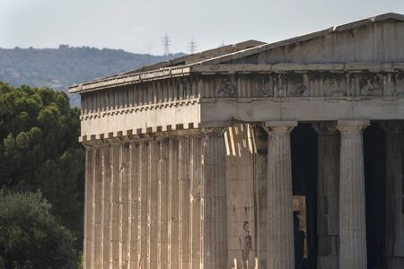 Hephaestus Temple in Agora of Athens in Greece