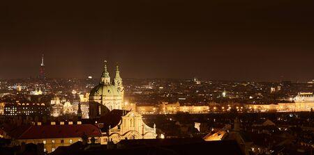 08122015 Prague: the city panorama at night