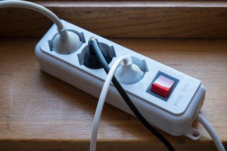 multiple: multiple socket outlet Stock Photo