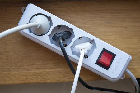 taken: multiple socket outlet Stock Photo