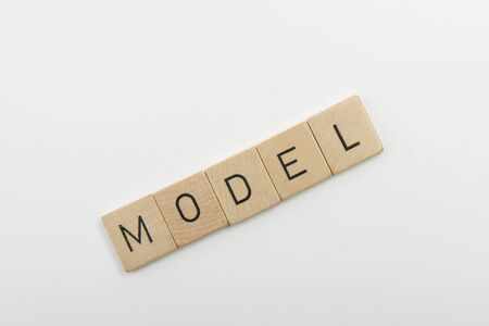 to word: word model Stock Photo