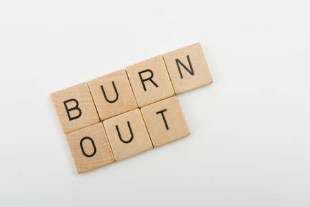 burn out: sentence burn out Stock Photo