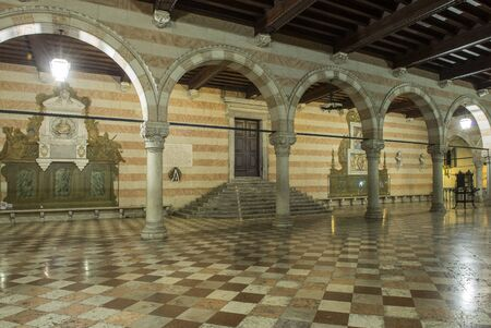 townhall: loggia of the town hall of Udine, Italy