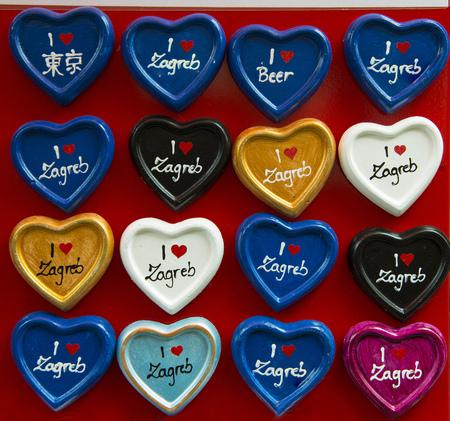 zagreb: hearts I love Zagreb