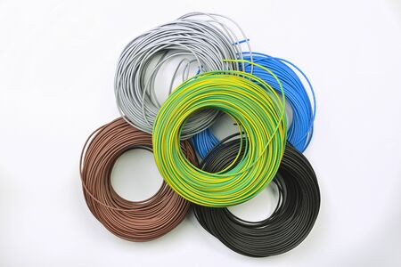 skeins of electrical wires