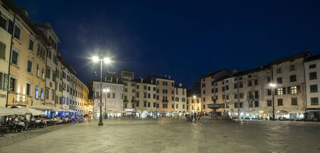 evening view of Piazza San Giacomo in Udine, Italy, 에디토리얼