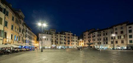 san giacomo: evening view of Piazza San Giacomo in Udine, Italy, Editorial
