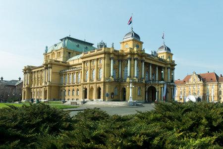croatian: Croatian National Theatre in Zagreb, Croatia Editorial