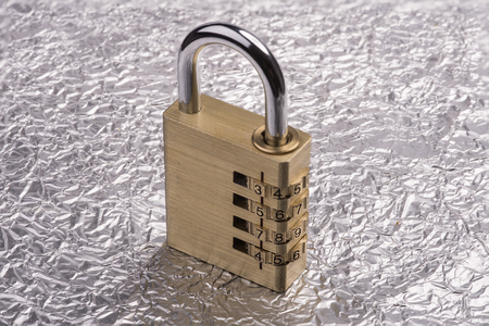 combination: combination lock Stock Photo