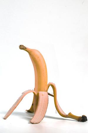 peel: with double banana peel Stock Photo