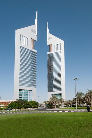 united arab emirates: Twin Towers in Dubai, United Arab Emirates Editorial