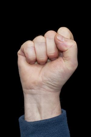 closed fist: raised fist