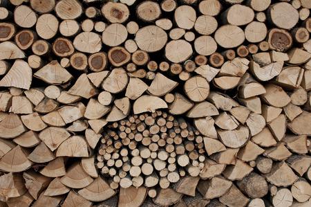 provision: provision of firewood Stock Photo