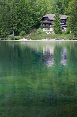 chalet: lake and Chalet