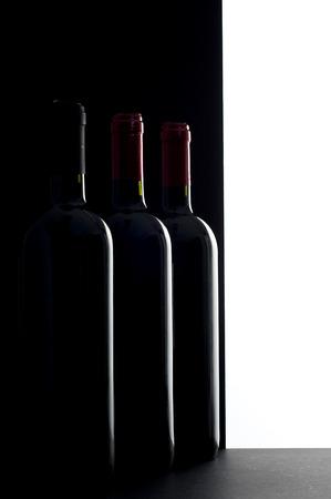 penumbra: wine bottles Stock Photo