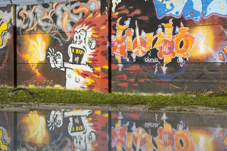 murals: graffiti Editorial