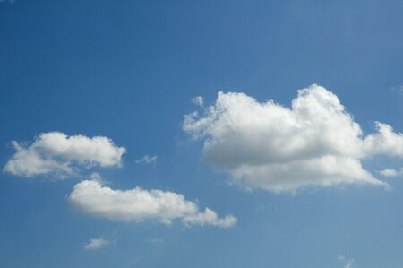 blue and white: clouds in the sky