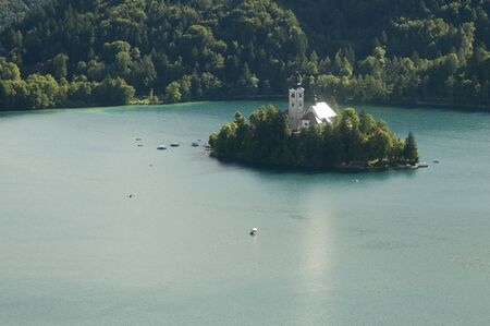 bled: island on Lake Bled, Slovenia,