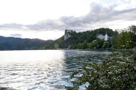 bled: Bled castle on the lake, Slovenia