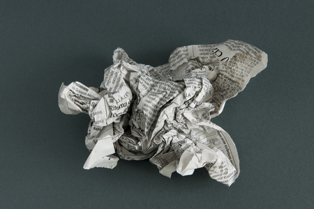 rumple: paper into a ball