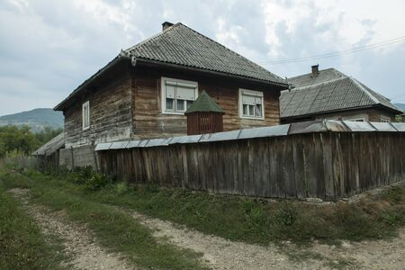 typical: Typical wooden houses in the region of Maramures, Romania
