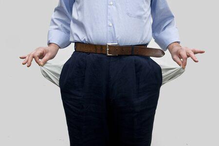 moneyless: empty pockets