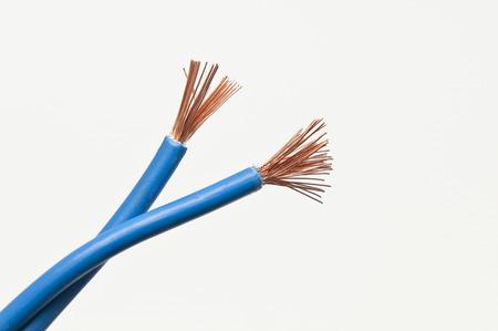 cables electricos: electric cables Foto de archivo