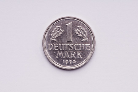 deutschemarks: Old German money 1 markka