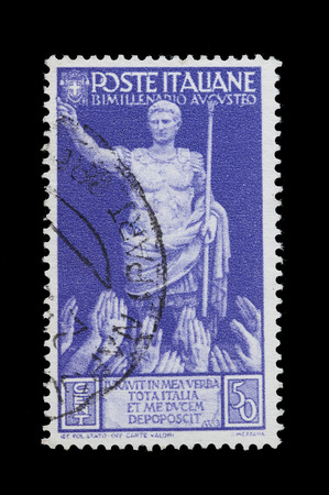 old commemorative stamp of the Kingdom of Italy