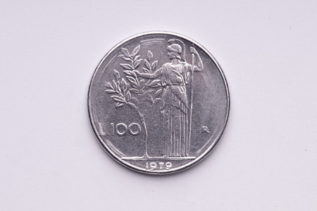 lit collection: Italian 100 lire coin