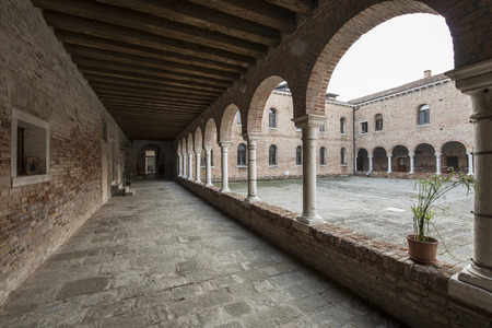 cloister: cloister of the monastery Ss. Cosmas and Damian, now a center artisans of the cloister with studies for the artistic work at the island of Giudecca in Venice