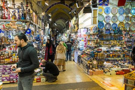 bazaar: Inside the Grand Bazaar in Istanbul Editorial