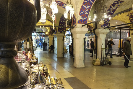 Inside the Grand Bazaar in Istanbul Editorial