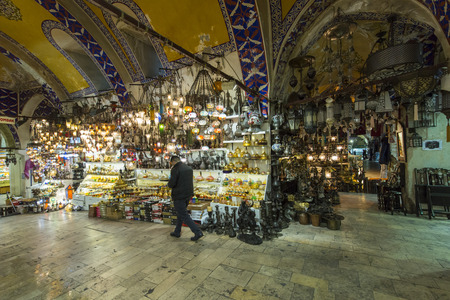 kapalicarsi: view of the shops in the Grand Bazaar in Istanbul