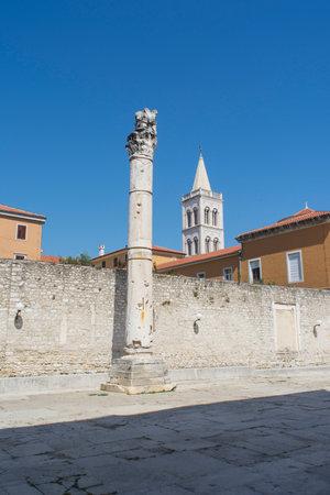 shame: The pillar of shame in the forum of Zadar, Croatia Editorial
