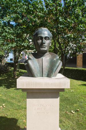 bust: bust of Ivo Prodan