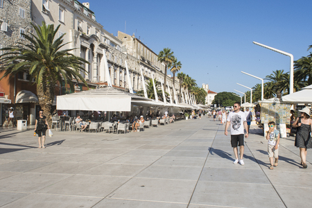 seafronts: the promenade of Split, Croatia