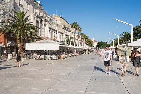 promenade: the promenade of Split, Croatia