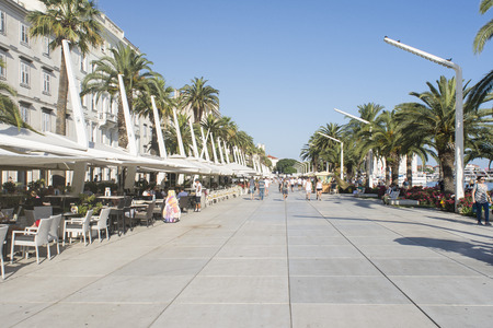 the split: the promenade of Split, Croatia
