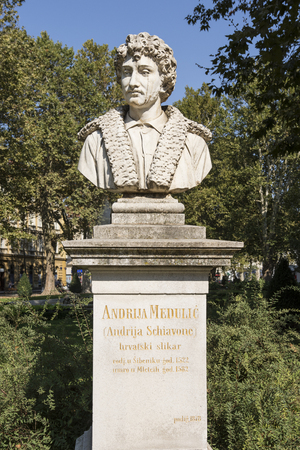 bust: the bust of Andrea Medulic