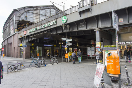 highroad: A view of the Friedrich Strasse Rail station in Berlin