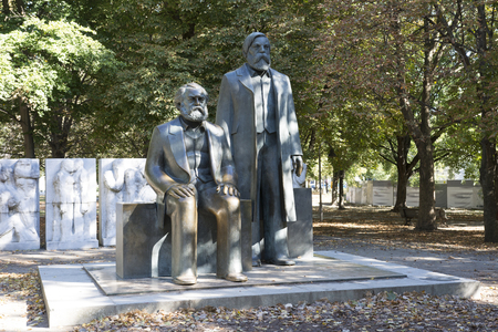 Marx and Hengels monument in Berlin