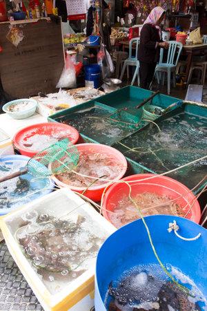 Fish market in Tai O village, Hong Kong