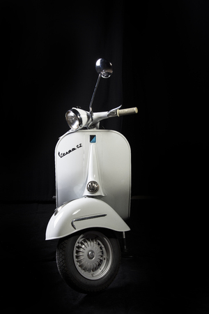 old sixties model of the Vespa scooter