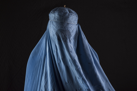 A woman with burqa
