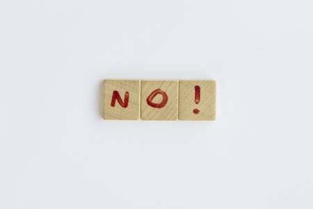 letterpress type: No word formed with the letters written on pieces of wood square