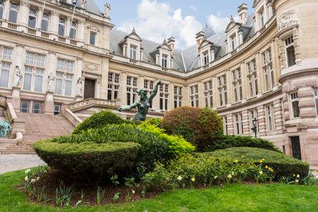 Saint Gilles Town hall building in Brussels Sajtókép