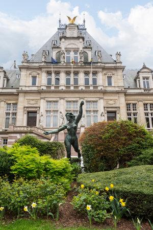 Het stadhuis van Saint Gilles in Brussel Redactioneel