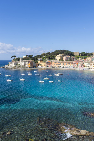 A panoramic view of Silence Bay in Sestri Levante.